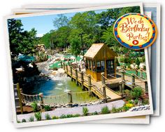 Arnold's Mini Golf's 18-hole course boasts a pirate ship, treasure chest, streams, waterfalls, & miniature historic buildings. Great for birthday parties!