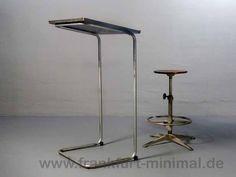 Linoleum Frankfurt ferdinand kramer 2 säulen tisch trapezform mit linoleum