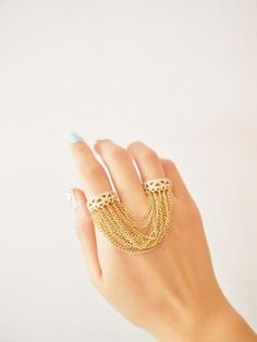 Gorgeous double ring link chain