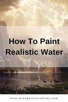 How To Paint Realistic Water. Water is a challenging subject to paint. Acrylic Painting Images, Oil Painting Tips, Oil Painting For Beginners, Acrylic Painting Lessons, Acrylic Painting Techniques, Watercolor Paintings Abstract, Realistic Paintings, Painting Videos, Seascape Paintings