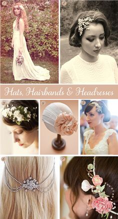 Wedding veil alternatives, by @LoveAudrey83 featuring some really lovely bridal headpieces and headdresses...