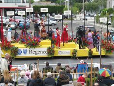 FDI students helped decorate this float for the 100th annual Portland Rose Parade.