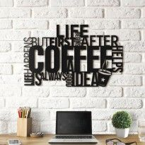Hoagard - Metal Typography Wall Decor I Inspirational Quotes Wall Art Wall Art Designs, Wall Design, Diy Cnc Router, Transforming Furniture, Wooden Map, Good Color Combinations, Coffee Shop Design, Acrylic Wall Art, Coffee Signs