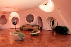 Pierre Cardins Bubble House Palais Bulles by Antti Lovag