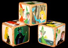 Decorative Wooden Blocks  Childrens Blocks  by Booksonblocks, $16.00