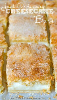 A beautiful combination of crescent rolls and cream cheese with just a little effort will become a recipe you will surely gladly come back to - Sopapilla Cheesecake Bars (Easy Cheese Cake) Desserts Nutella, Mini Desserts, Chocolate Desserts, Just Desserts, Sweet Desserts, Health Desserts, Chocolate Tarts, Baking Desserts, Plated Desserts