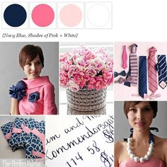 Navy Blue + Pink ☛ http://www.theperfectpalette.com/2012/03/color-crush-navy-blue-shades-of-pink.html