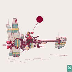 Biker Errol, Gareth Davies on ArtStation at https://www.artstation.com/artwork/lalyk