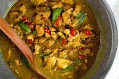 Thai Green Curry Paste - also a recipe for green curry chicken