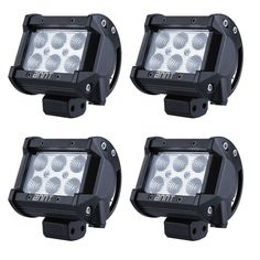 "6x 6/'/' 2x 8/"" Black Snap on Lens Cover Offroad For 52/'/' 312W LED Work Light Bar"