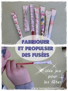 Propulser des fusées (idée jeu pour le nouvel an) http://www.lacourdespetits.com/bricolage-enfant-jeu-pour-nouvel-an/ #fusees #fetes #enfant