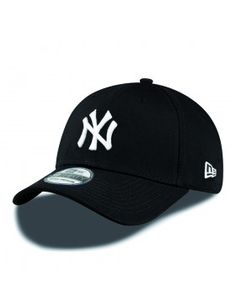New Era Curved cap NY New York Yankees - black white New Era Yankees, Yankees Hat, New York Cap, Vans Authentic Black, Dope Hats, New Era 39thirty, New York Girls, Caps For Women, Mens Caps