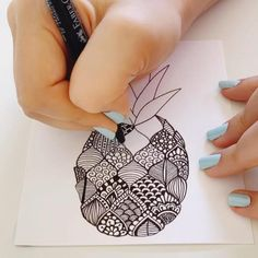 Art Drawings Sketches Simple, Doodle Art Drawing, Art Drawings Beautiful, Zentangle Drawings, Mandala Drawing, Pencil Art Drawings, Zentangle Patterns, Zentangle Art Ideas, Mandala Sketch