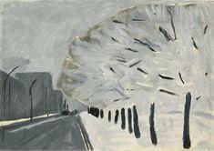 Зима в городе. 1958 Бумага, темпера. 49 х 69