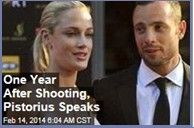 Latest News:  One Year After Shooting, Pistorius Speaks. The last time Oscar Pistorius tweeted was Feb. 12, 2013, two days before be shot and killed girlfriend Reeva Steenkamp in what he maintains was a tragic accident in which he mistook her for an intruder. Get all the latest news on your favorite celebs at www.CelebrityDazzle.com.