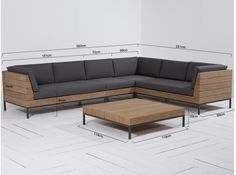 L shape Patio Set SS This Patio wooden sofa L-Shape is made from premium grade Indonesian teak wood. This sofa is suitable for outdoor and indoor . Home Decor Furniture, Sofa Furniture, Living Room Furniture, Modern Furniture, Furniture Design, Furniture Online, Cheap Furniture, Furniture Ideas, Wooden Couch