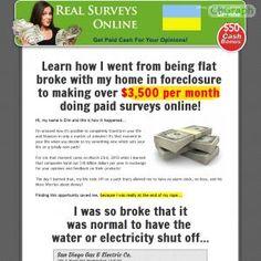[GET] Download Real Surveys Online! - A Brand New Paid Surveys Site Bonus! : http://inoii.com/go.php?target=realsurvey