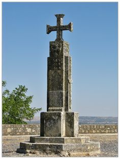 Idanha-a-Nova, medieval sign with the cross of Christ Order. Portugal