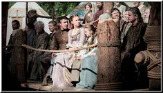 At the Hand's Tourney, Petyr Baelish, Sansa and Arya