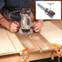 "Jig for Routing Dadoes - When building a cabinet, dadoes are often used to ensure that shelves and partitions are spaced correctly. To make a strong joint, the width of the dadoes must exactly match the thickness of the plywood. That can be a challenge because few pieces of plywood are precisely 3/4 in. thick. They're usually 1/32 in. or so less than the ""nominal"" thickness.This jig will rout perfect-fitting dadoes for any piece of 3/4-in. plywood regardless of its actual thickness. Use a…"