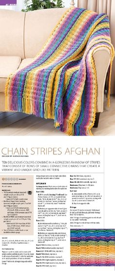 chain stripes afghan - perfect crochet project for beginners and the best stash buster!
