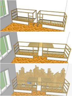 jungszimmer Best Pictures mommo design: IKEA KURA HACK Ideas Cheap, toddler-friendly and surprisingl Ikea Bunk Bed Hack, Ikea Kura Hack, Ikea Bed, Ikea Hacks, Triple Bunk Beds Plans, Bunk Bed Plans, 3 Bunk Beds, Kid Beds, Girl Bedroom Designs