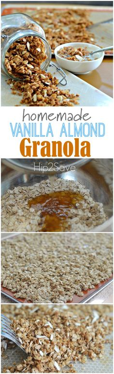 Homemade Vanilla Almond Granola. Start your day right and full of energy with this wonderful and delicious breakfast.