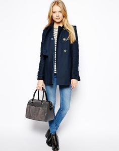 ASOS | ASOS Textured Swing Duffle Coat at ASOS