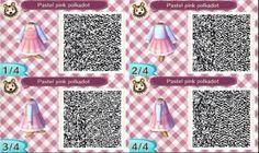 Pastel Pink Kawaii Dress QR code acnl.
