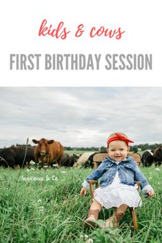 Kids and cows, first birthday photo session, forget the smash cakes. On the farm photoshoot with kids. Western Baby Pictures, Farm Family Pictures, Toddler Pictures, Cow Photos, Farm Pictures, Cute Babies Photography, Farm Photography, 2nd Birthday Pictures, Cow Birthday