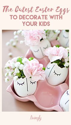 The cutest Easter egg ideas to decorate with your kids. Easter Arts And Crafts, Crafts For Kids, Diy Crafts, Easter 2018, Boyfriend Crafts, Easter Activities, Egg Art, Easter Holidays, Easter Dinner
