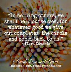 Helping others quote via www.Facebook.com/ReadLoveandLearn