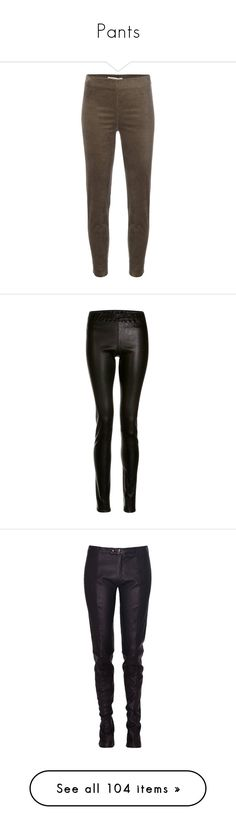 """""""Pants"""" by judy78 ❤ liked on Polyvore featuring pants, brown, velvet trousers, velvet pants, velvet skinny pants, brown trousers, brown pants, leggings, bottoms and stretch leather pants"""