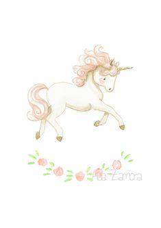 Pink unicorn by Aida Zamora