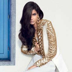 Indian model and actress, Diana Penty in the Maldives for Vogue India's July 2012 issue