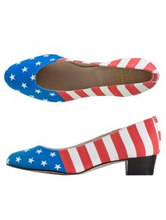 #Memorial Day American Apparel #Women's American #Flag Print Leslie Pump Shoe -American Flag « windowmountain.com
