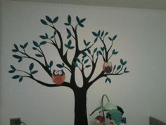 Tree with owls in Izzy's room
