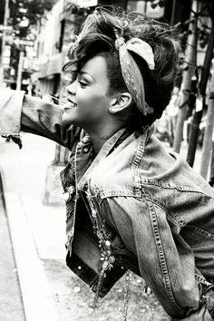 Rihanna Black and white