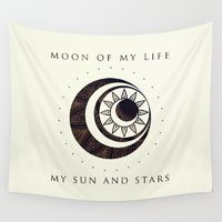 Wall Tapestries featuring Moon of my life... My Sun and stars by Rose's Creation