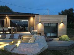 """Maison bois """"Code noir"""" par M et M en Corse à proximité d'Ajaccio - la maison bois par maisons-bois.com"""
