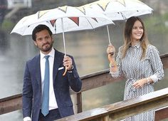 Princess Sofia of and Prince Carl Philip (Duke and Duchess of Värmland) on the 2nd day of the two day visit to Varmland on August 27, 2015.