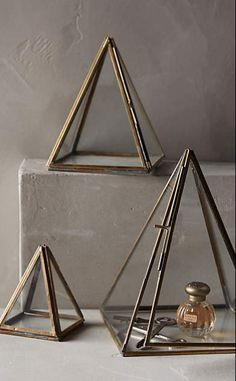 Glass Pyramid Display Cases #anthrofave