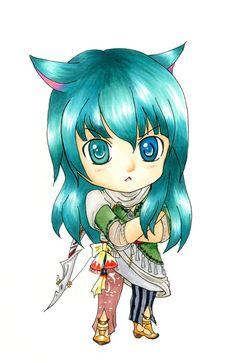 Tsundere Miqote Bard (Complete) by karikun on DeviantArt Final Fantasy Xiv, Tsundere, Deviantart, Fictional Characters, Fantasy Characters