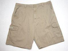 5075af56b0 NWT Wrangler Cargo Shorts 42 Loose Fit Tan Men's Tech Pocket ( Measure  42x10 ) #