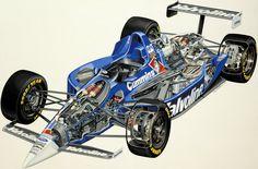 F1 Car Cutaway View