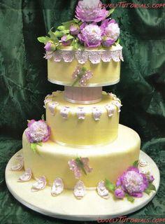 Peony Wedding cake tutorial