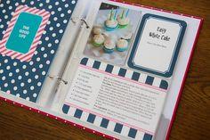 Project Life protectors for a recipe album. Making A Cookbook, Homemade Cookbook, Scrapbook Recipe Book, Scrapbook Paper, Family Recipe Book, Recipe Books, Project Life 6x8, Becky Higgins, Recipe Binders