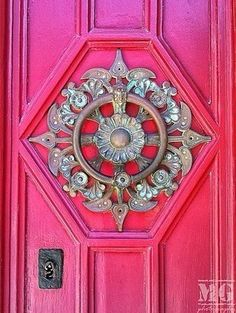 Take a piece of vaneer and frame it with moulding centered on the door- attach the metal decorative pc. from Hobby Lobby and Distress the Door❤️