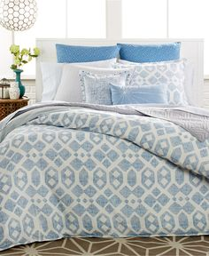 CLOSEOUT! Bar III Modis Blue Bedding Collection - Bedding Collections - Bed & Bath - Macy's