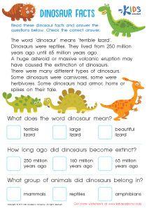 dinosaur facts for children Dinosaur Facts For Kids, Dinosaurs Preschool, The Good Dinosaur, Dinosaur Types, Dinosaur Worksheets, Dinosaur Activities, First Grade Activities, Preschool Printables, Preschool Worksheets
